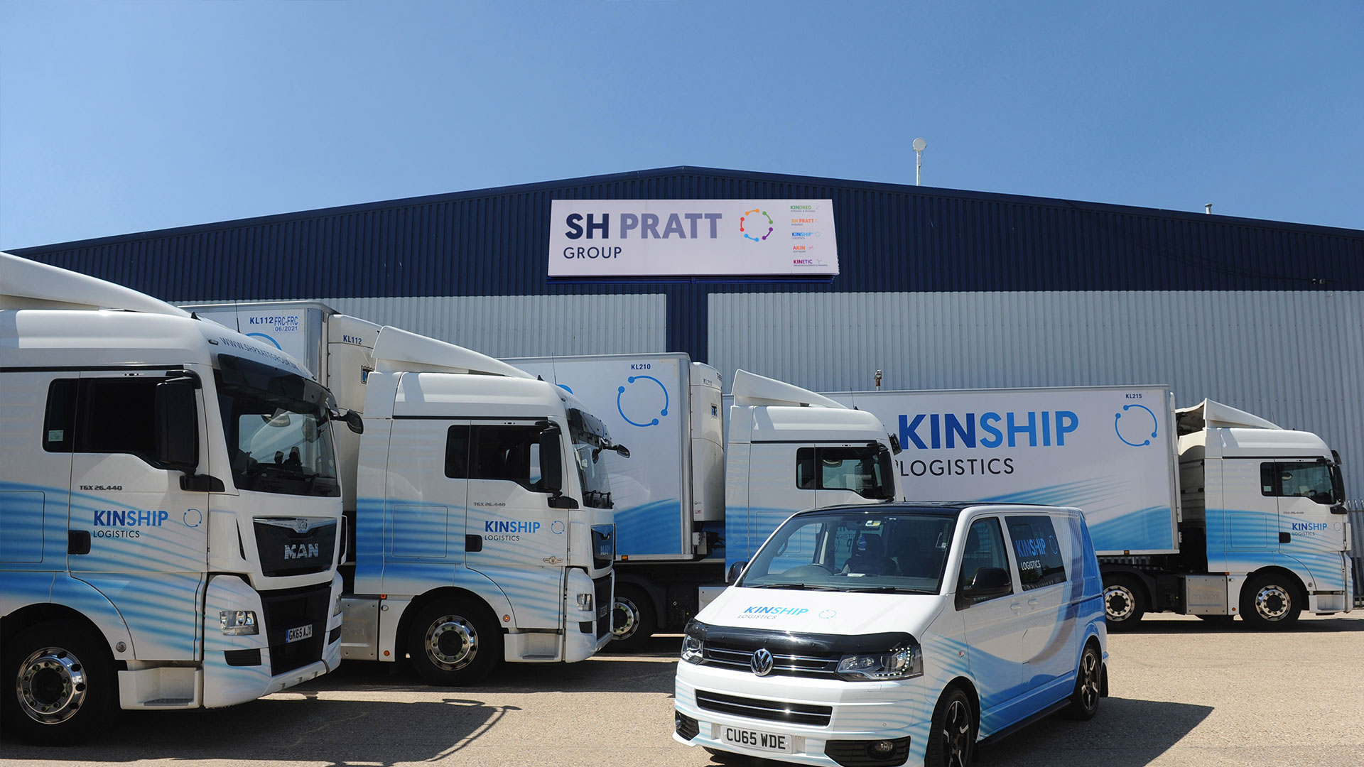 Image of Kinship Logistics lorries
